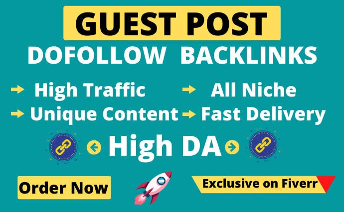 I will publish guest post,  high da guest post with dofollow backlink
