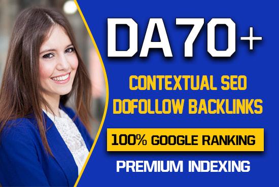I will create 800 high quality contextual SEO dofollow backlinks
