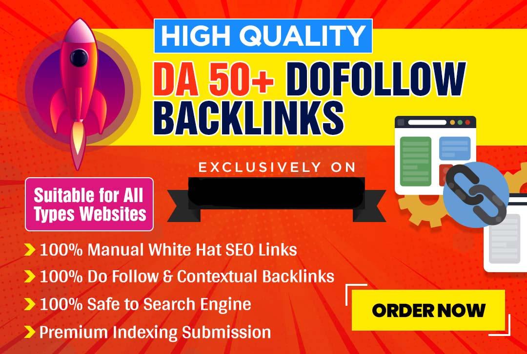 I will build 800 high quality da 50 plus dofollow contextual SEO backlinks