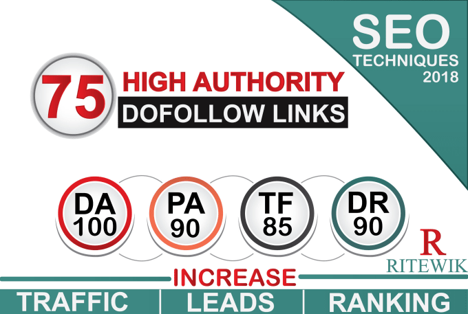 I will build 75 SEO backlinks on high da pa tf cf websites to boost your ranking