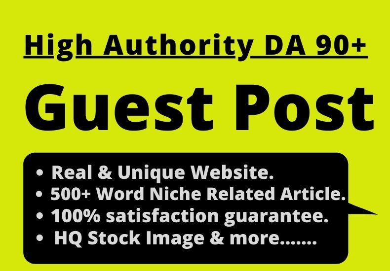 Write and Published Guest Post on HQ DA 90+ Sites Permanent Post 500+ Fresh & Unique Article