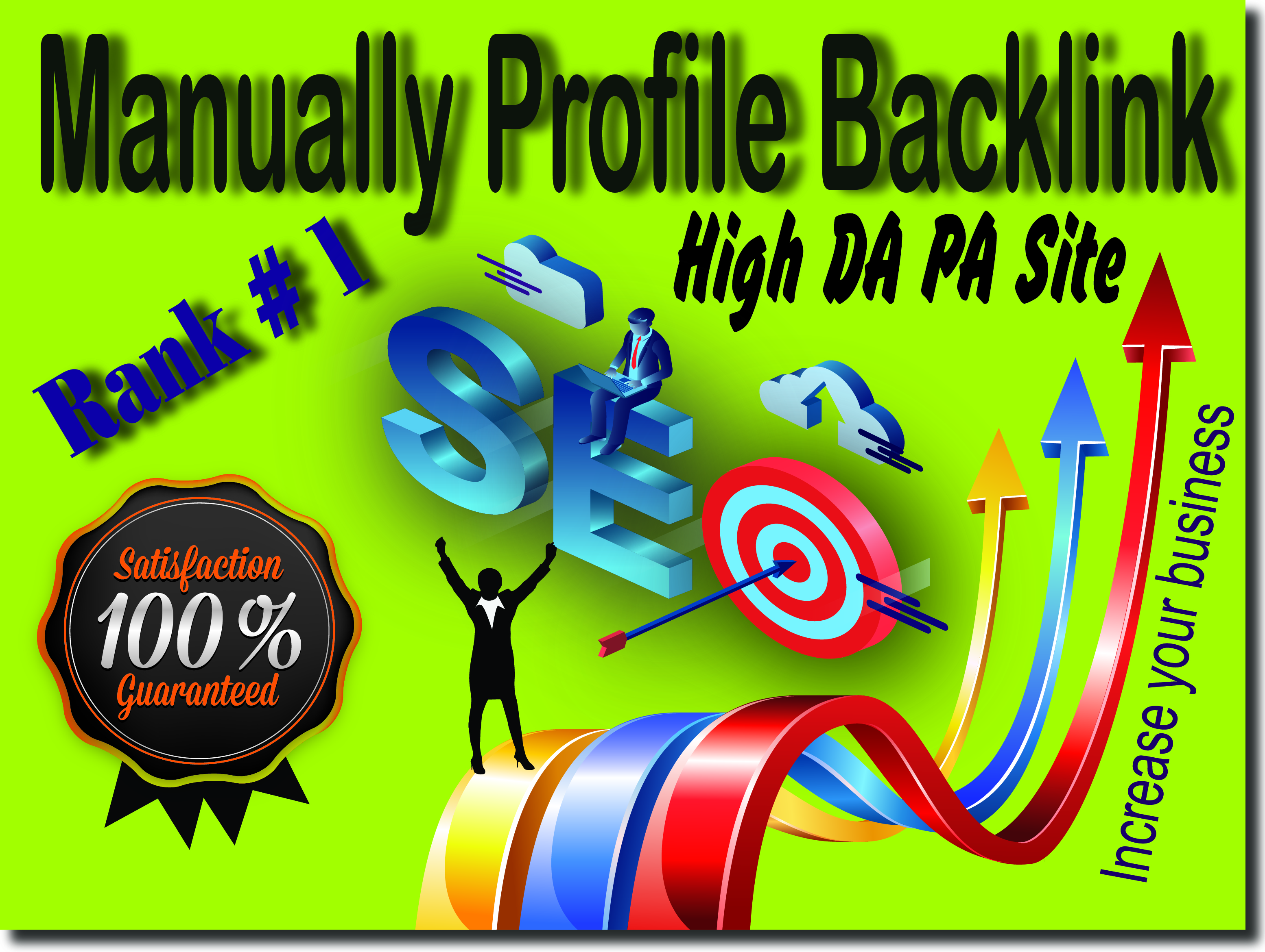 Create 20 HQ Domain Authority 90+ Site Profile Backlinks boost your service