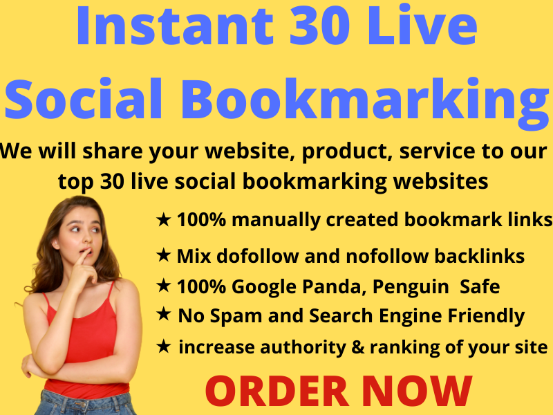 Instant 30 Live Do follow Social Bookmarking Links with in 24 hours