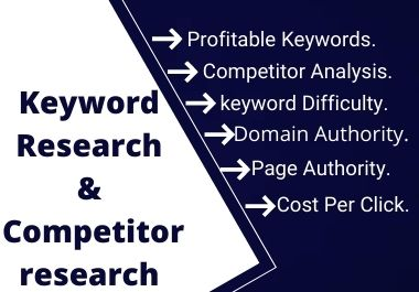 I will do targeted profitable keyword research and competitor analysis for your niche.