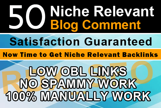 I will do 50 niche relevant high quality backlinks