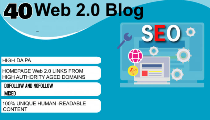 I Will Do 40 Web 2.0 On High Quality Sites