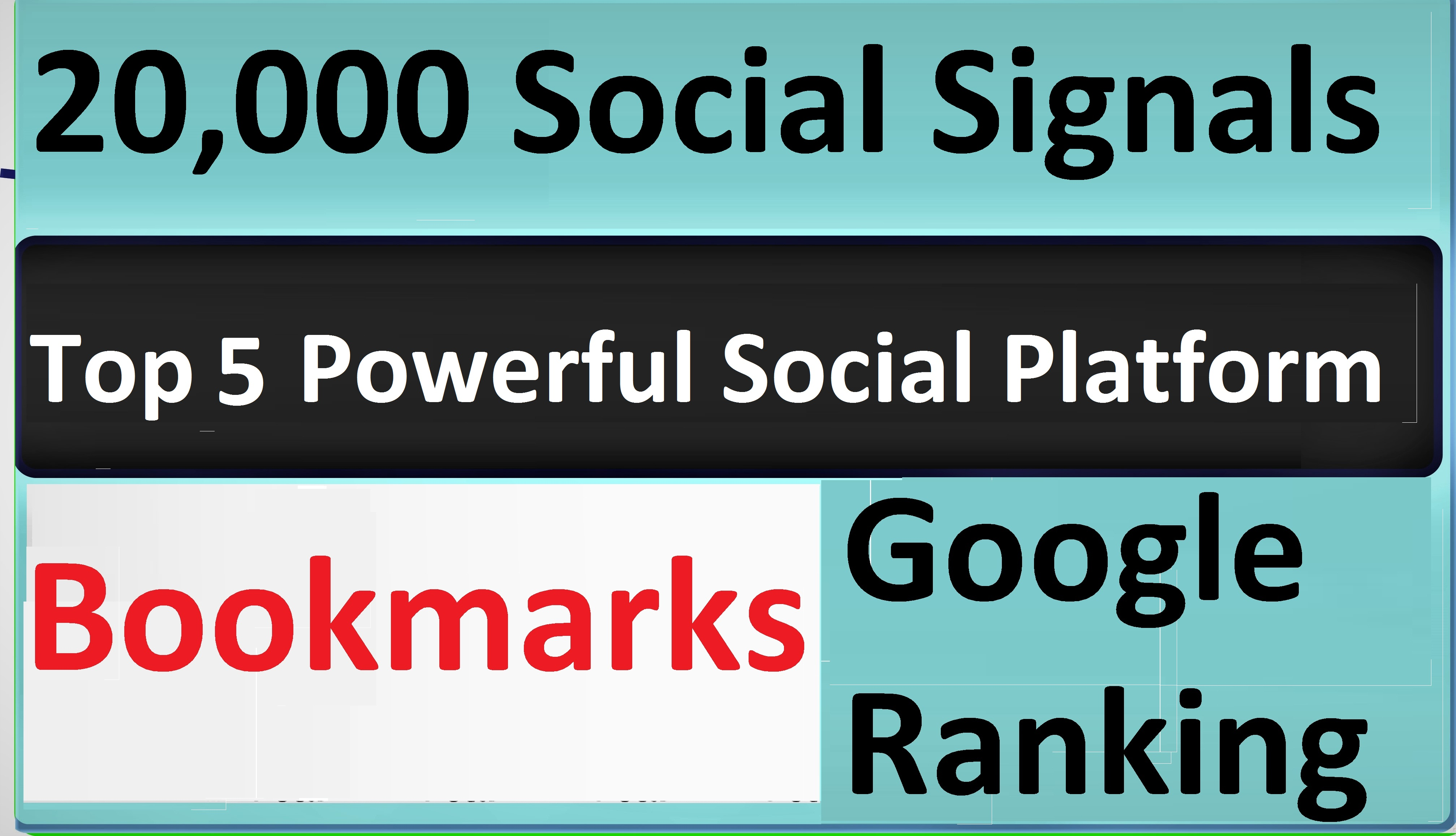 Give Top 5 Powerful Social Platform 20,000 PR9 SEO Social Signals Share Bookmarks Important Google