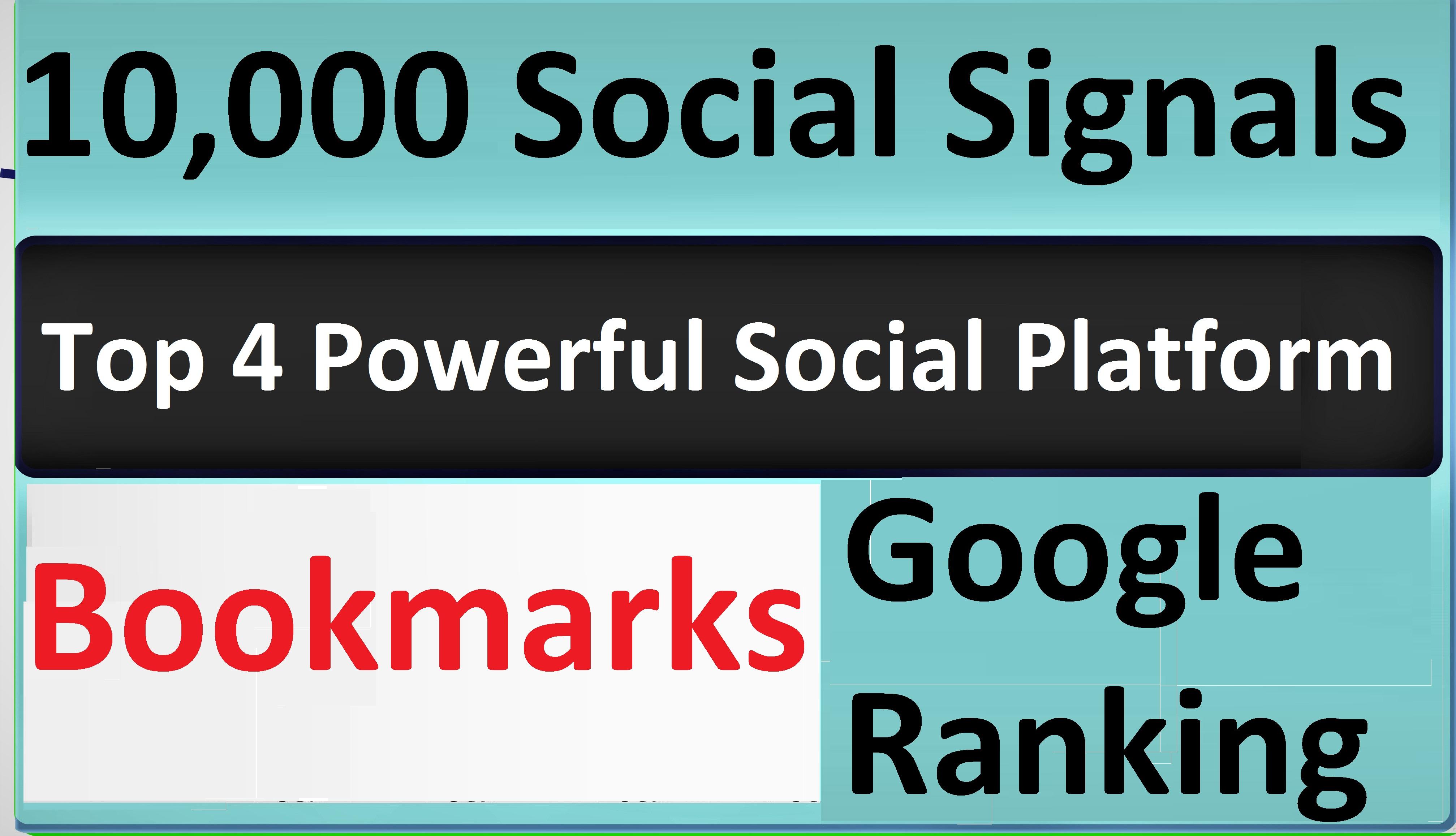 Give Top 4 Powerful Social Platform 10,000 PR9 SEO Social Signals Share Bookmarks Important Google
