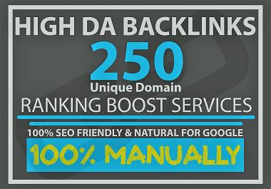 I will provide 250 high DA/PA,  DR/PR,  TF/CF manually profile backlinks for google ranking