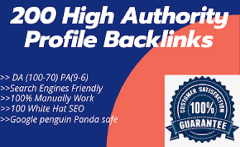 I will provide 200 high DA/PA, DR/PR, TF/CF manually profile backlinks for google ranking