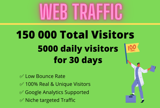 150 000 Real Web Traffic To Your Website or blog