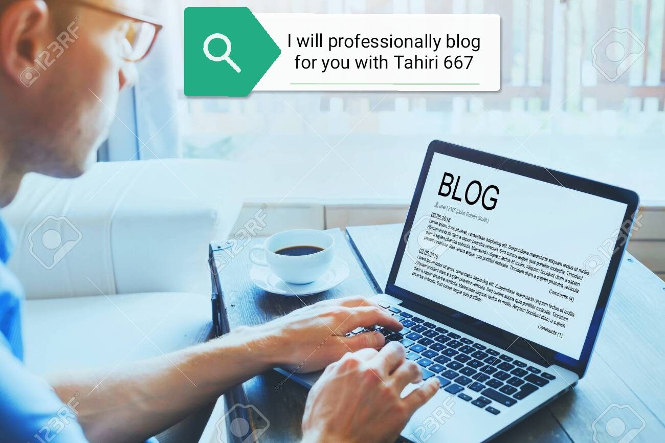 I will professionally blog for you on any topic
