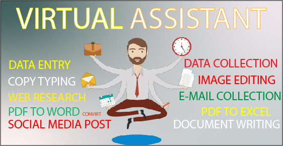 I will be your virtual assistant with Data Entry and email collection