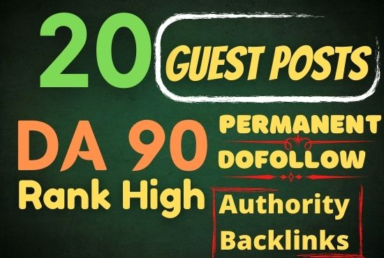 I will publish 20 seo guest post on high da pa real blogs