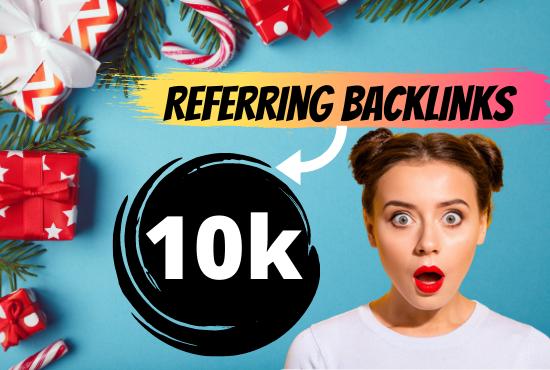 manual build 10k unique referring domain SEO backlinks