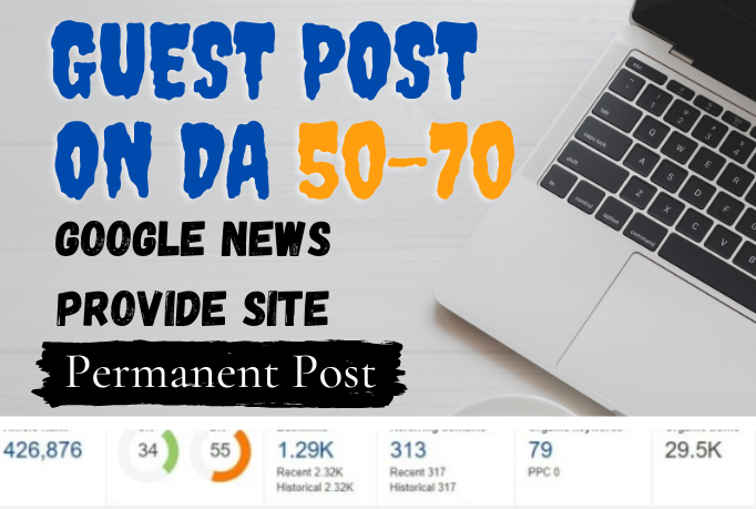 I will Do Dofollow Guest Post On My DA 69 Google News Approved Sites.