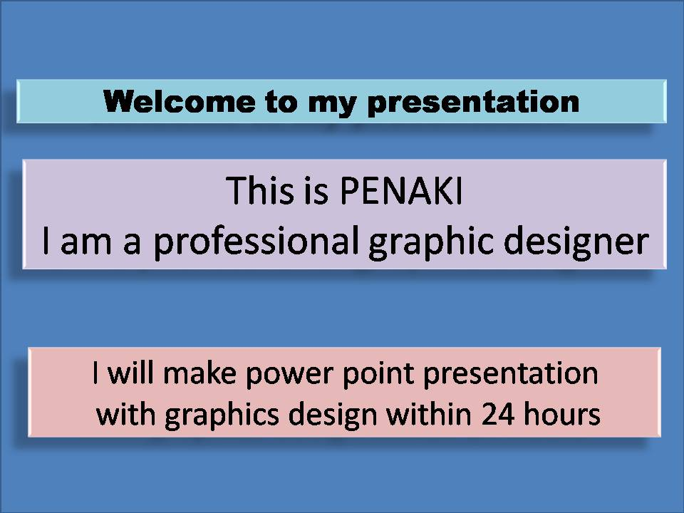 I will do professional power point presentation.