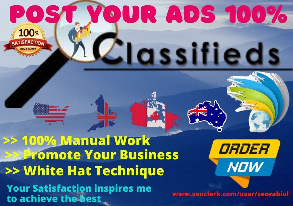 25+ Post Your Ads High Authority Classified Ads Posting Site in the USA,  UK Australia & Canada