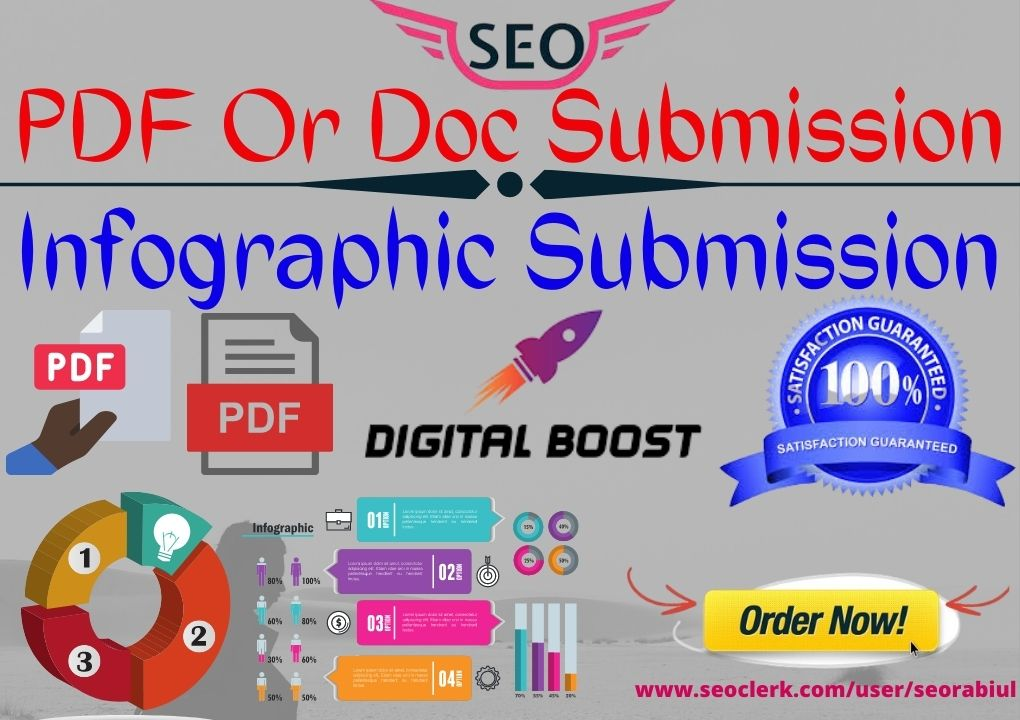 PDF,  Image or Infographic Service On High Domain Authority Sites