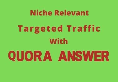 Promote your Website 30 HQ Quora Answer with SEO Clickable Backlinks