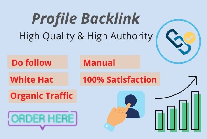 I will provide SEO high quality 50 manual do follow profile backlinks
