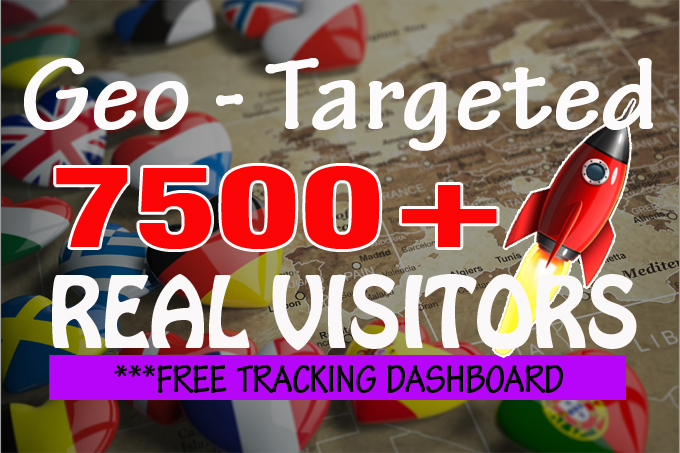 I will drive 7500+ Geo targeted organic traffic with low bounce rate and AdSense safe