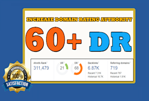 increase ahref domain rating Dr 50 to 55 plus