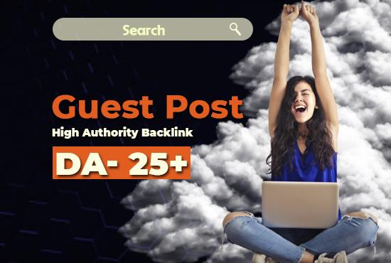 I Will offer da 25+ 1 guest post for google rank