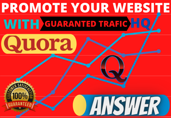 Superstrong targeted traffic 30 Quora Answer with your keywords & URL