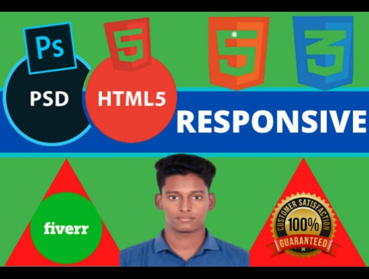 Do HTML CSS edit in your webpage and landing page