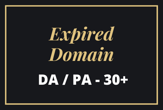I will Provide niche relevant 2 Expired Domain for you