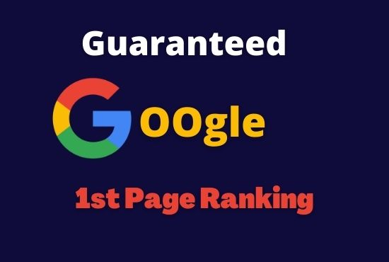 Offer you guaranteed Google 1st page ranking with best linkbuilding service