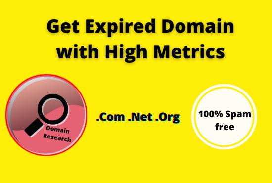 find 10 niche relevant expired domain 15+ DA PA