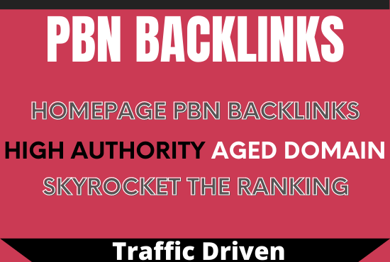 ZERO SPAM 5 Real High DA Pbns Do Follow backlinks for Home Page