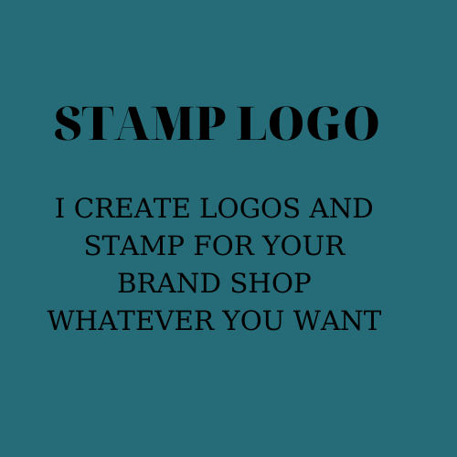 Stamp logo for YOU and your shop or brand