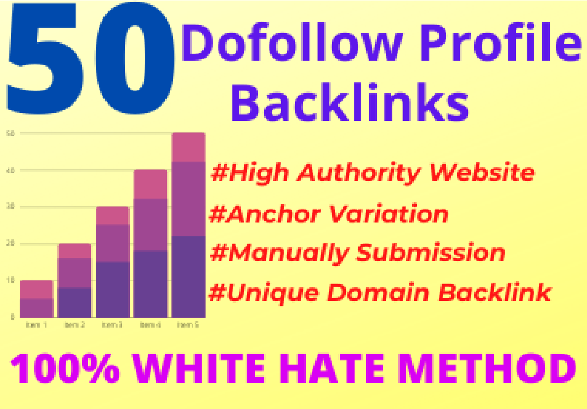 I Will Create 50 High Quality DA/PA 80+ Profile Backlinks Manually