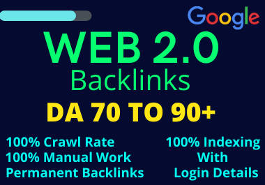 Land On Google First Page With High Authority 10 WEB 2.0 Backlinks