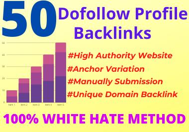 I Will Create 50 HQ DA Profile Backlinks Manually For SEO Ranking