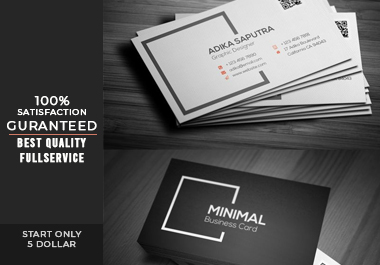 I will provide minimal business card design with a modern & premium look