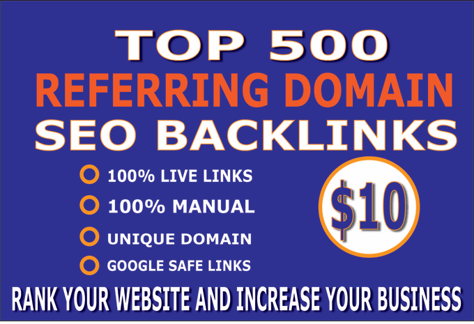 I will create 500 referring domain SEO backlinks for website ranking