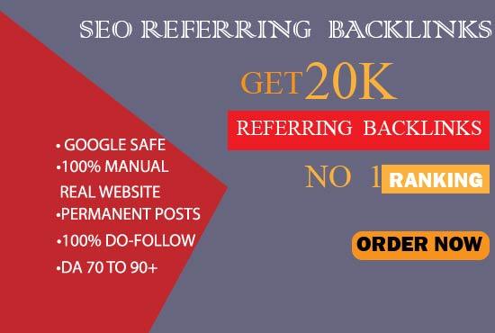 Provide referring domain backlinks for seo ranking