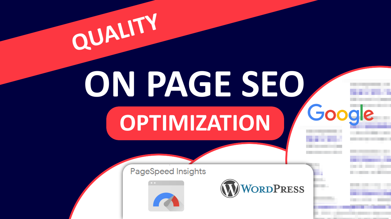 Quality On Page SEO Optimization For Your Website