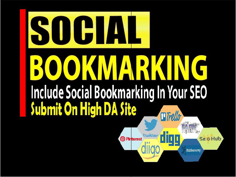 I will Create 20 social bookmarking backlinks on high DA sites
