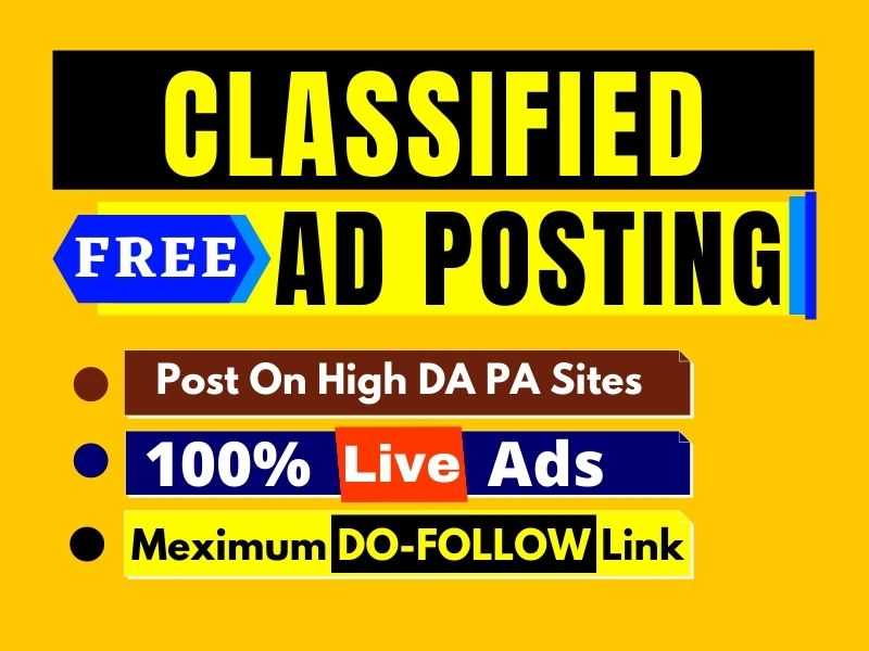 Post your ads on top rank classified ads posting site in USA,  UK,  Canada and Australia