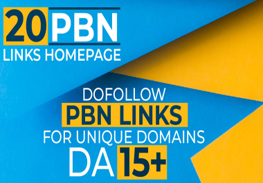 20+ Permanent PBN Backlinks Web2.0 With High TF CF DA 15+ PA Do-follow Links Homepage Unique website