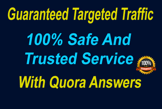 Guaranteed Targeted Traffic with 60 Quora Answers