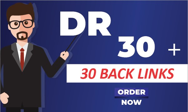 I will create 30 High Quality Backlinks DR 30 +