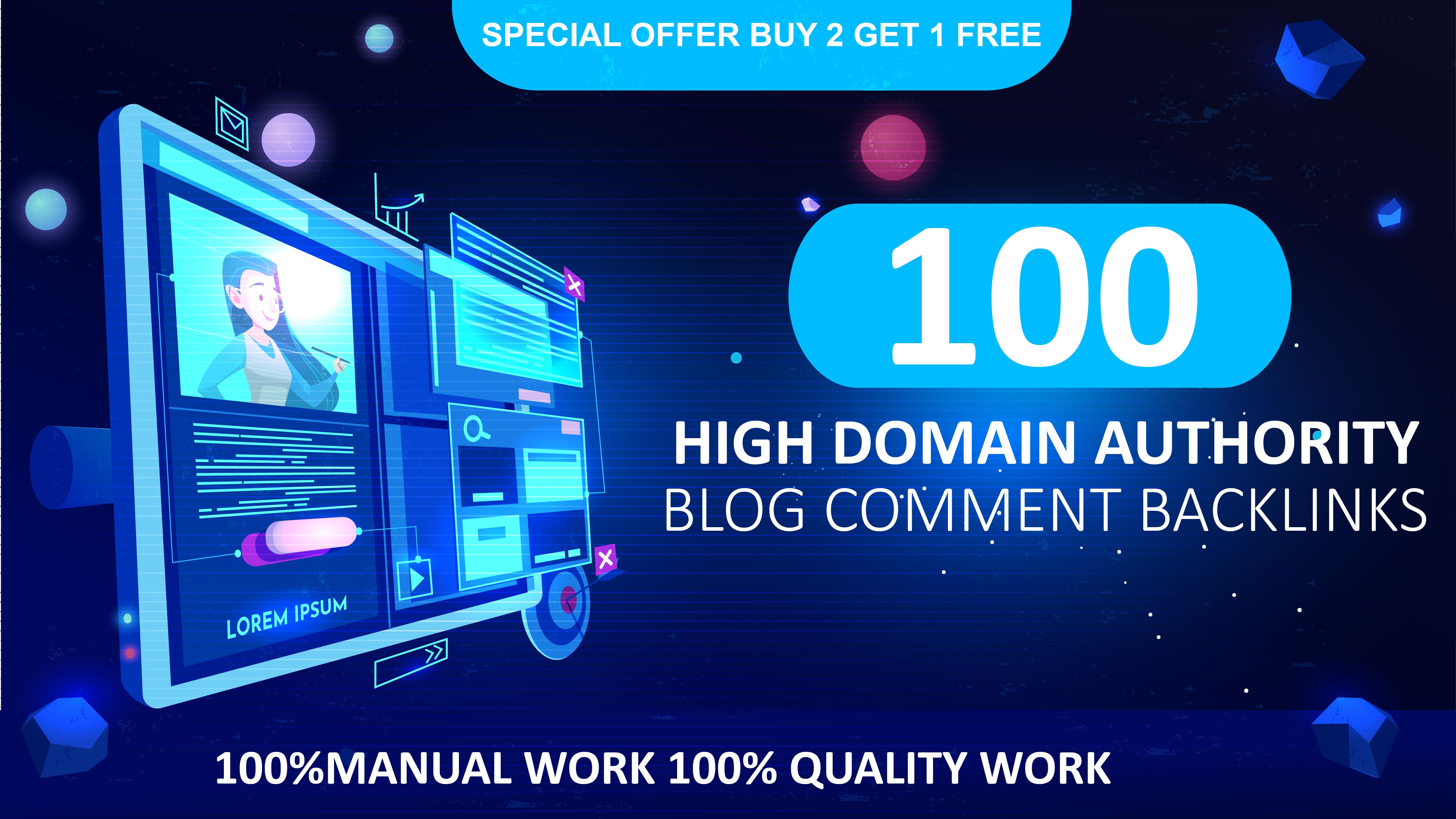 i will create 100 dofollow Domain Authority DA 30+Backlinks