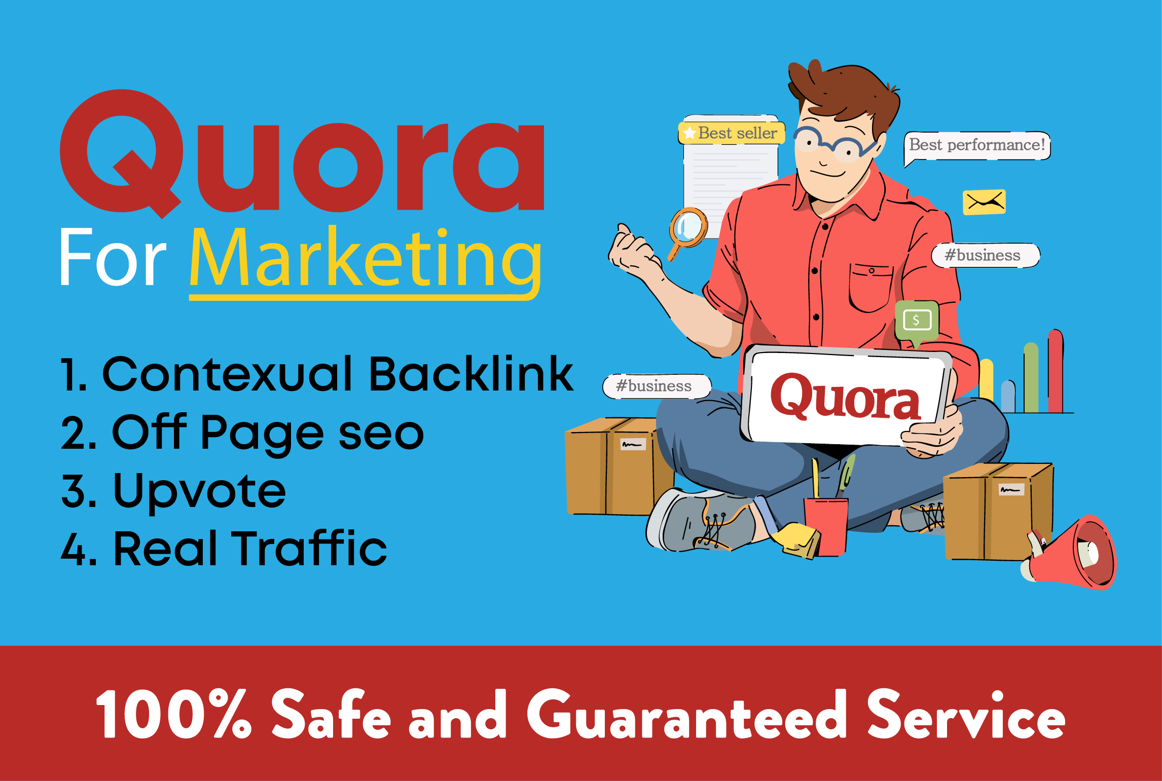 High quality 20 Quora Answers with Guaranteed Traffic