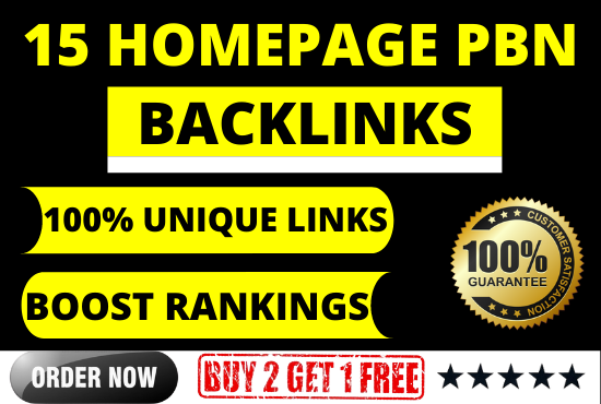 15 High DA/PA PBN Backlinks High Authority links from Unique Domains